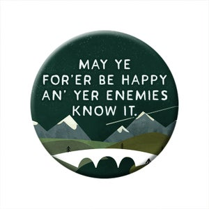 Image of 'Whits fur ye' Scottish Mountains badge pack