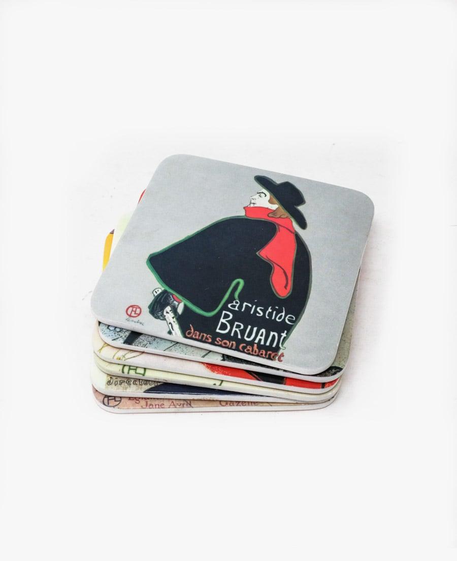 Image of Set of 6 Ceramic Coasters