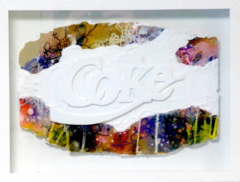 Image of COKE! Sculpture 30x40 cm 2019.
