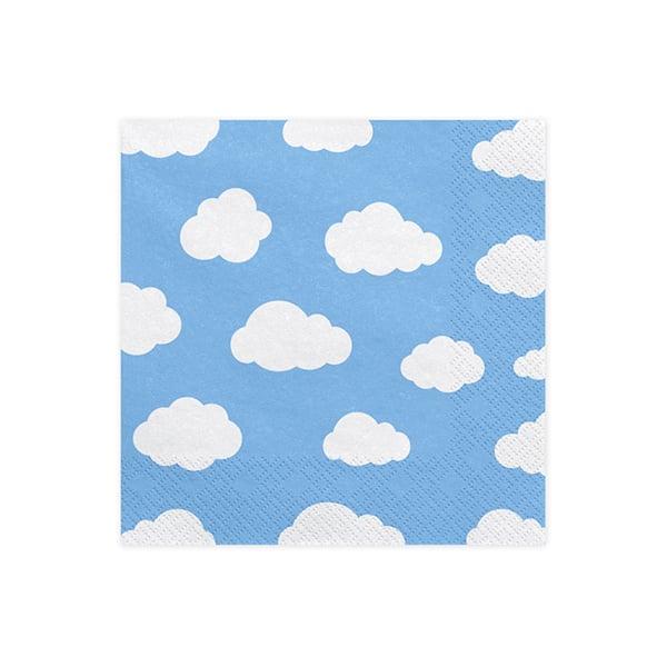 Image of Servilletas nubes azul