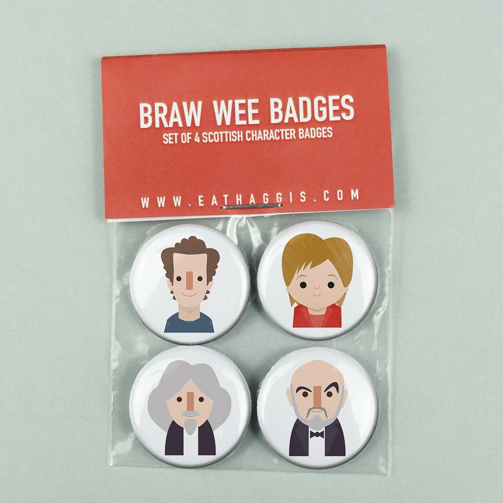 Image of 'Braw Wee' Scottish Character <html>  <br>  </html> (Badge Pack)