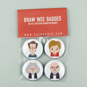 Image of 'Braw Wee' Scottish Character Badge Pack