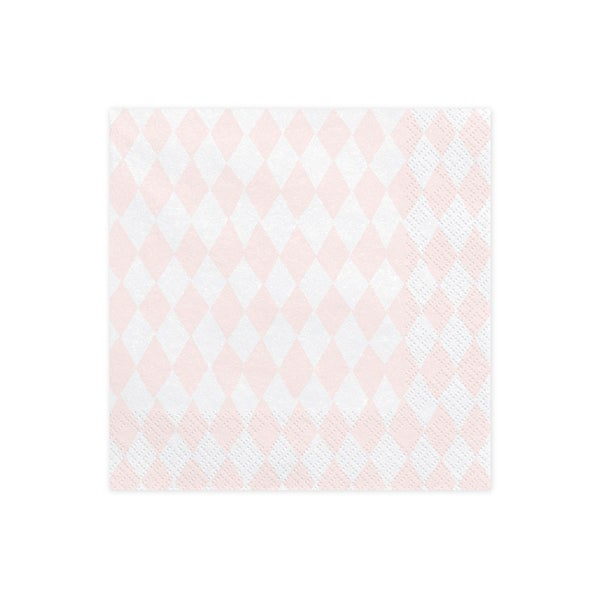 Image of Servilletas rosa con rombos