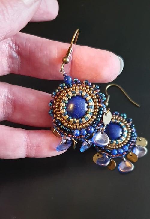 Image of Boucles d'oreilles SO CUTE Lapis Lazuli