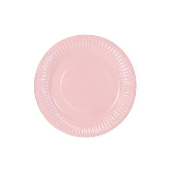 Image of Platos de papel rosa - 6 uds