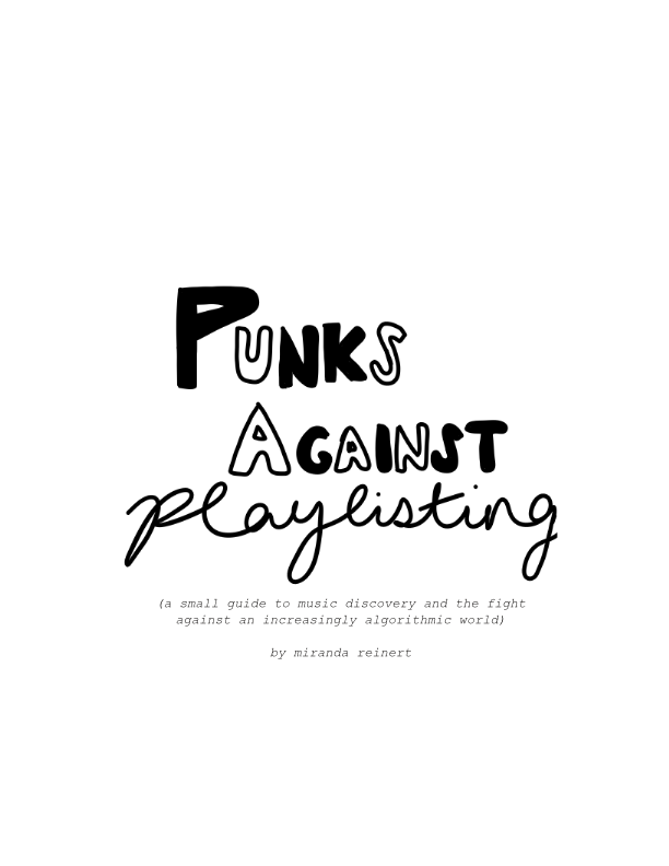 Image of Punks Against Playlisting