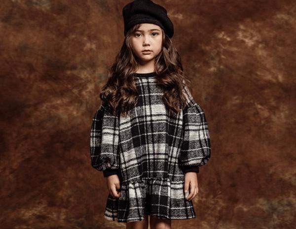 Image of KNIT CHECK DRESS
