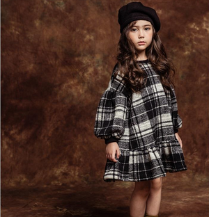Image of KNIT CHECK DRESS