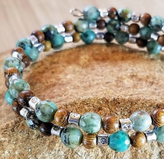 Image of African Turquoise Wrap Bracelet