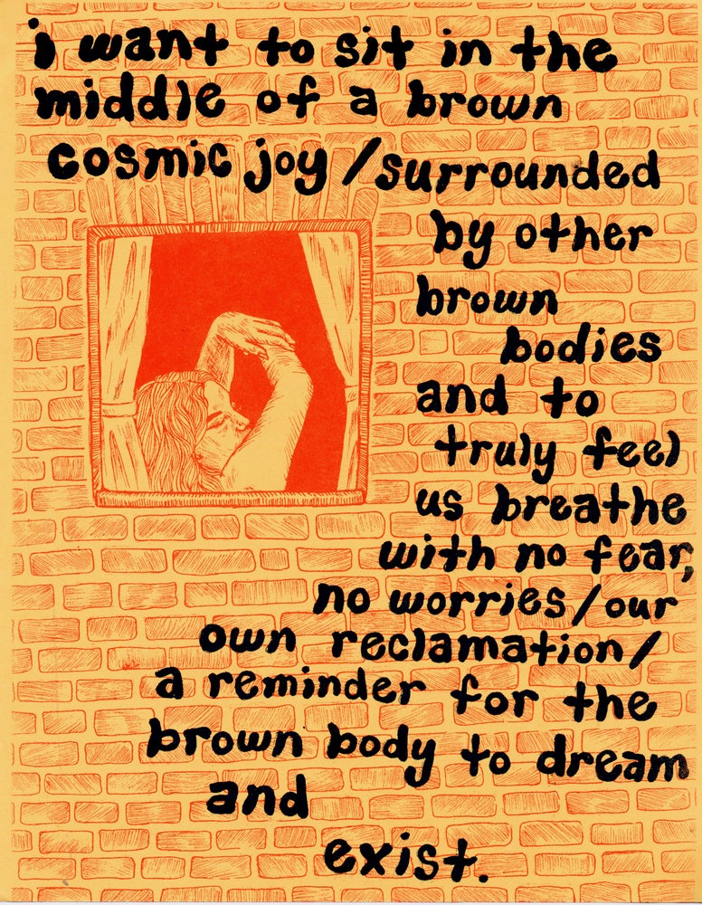 Image of Brown Cosmic Joy Print