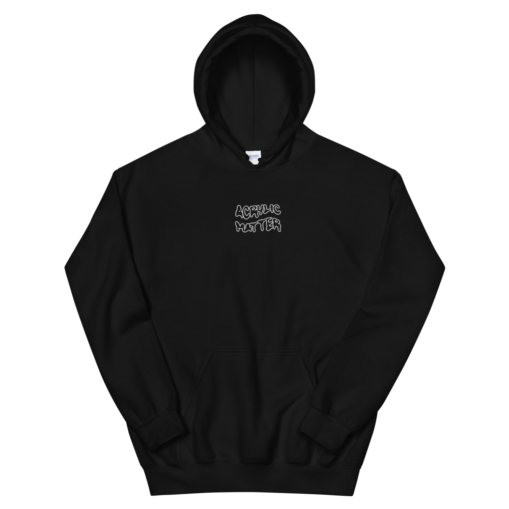 Image of WAVY LOGO EMBROIDERED HOODIE