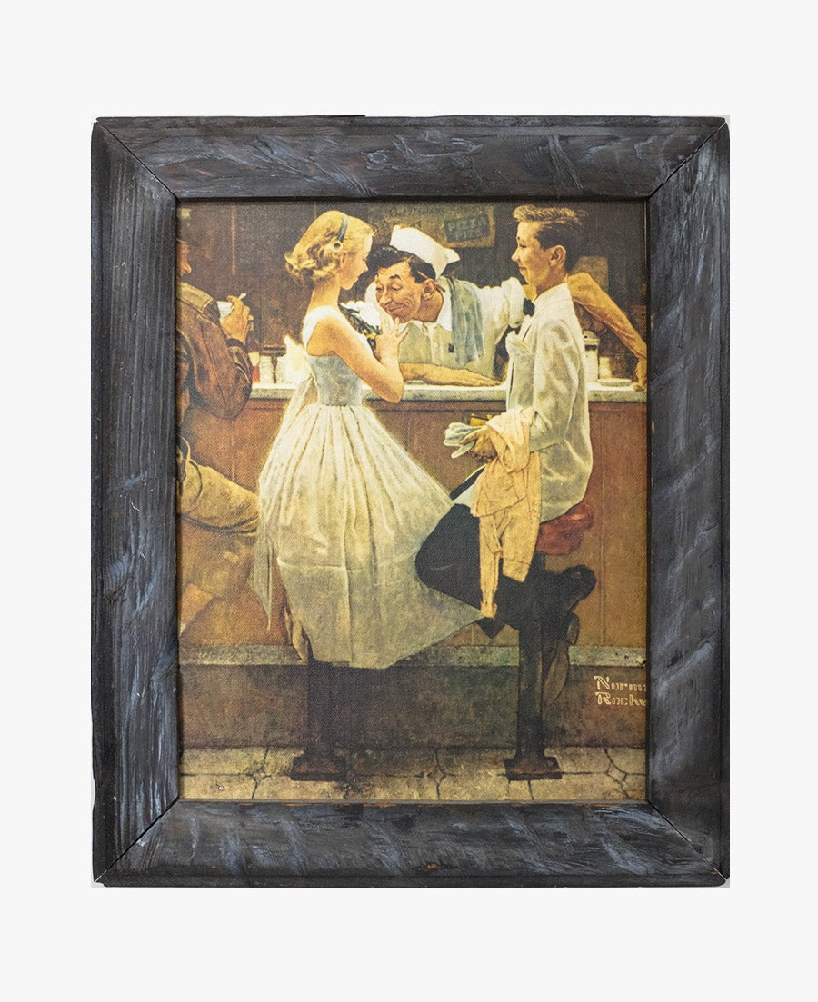 Image of Norman Rockwell After the Prom Framed Canvas