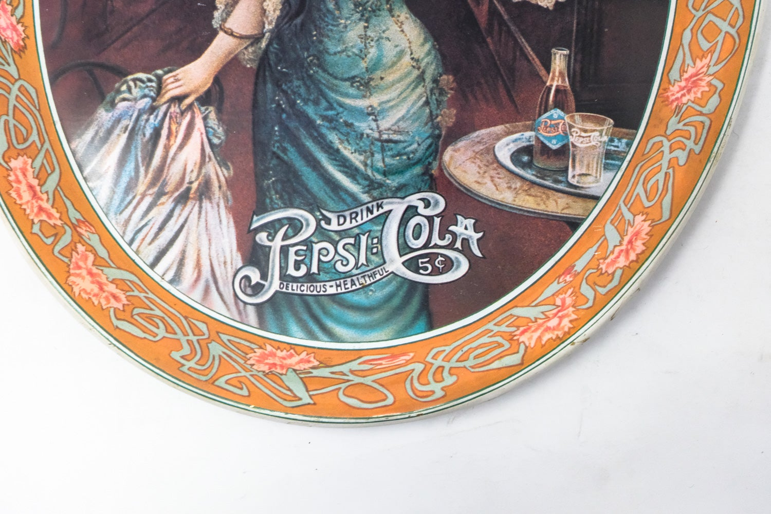 Image of Vintage Pepsi-Cola Metal Tray