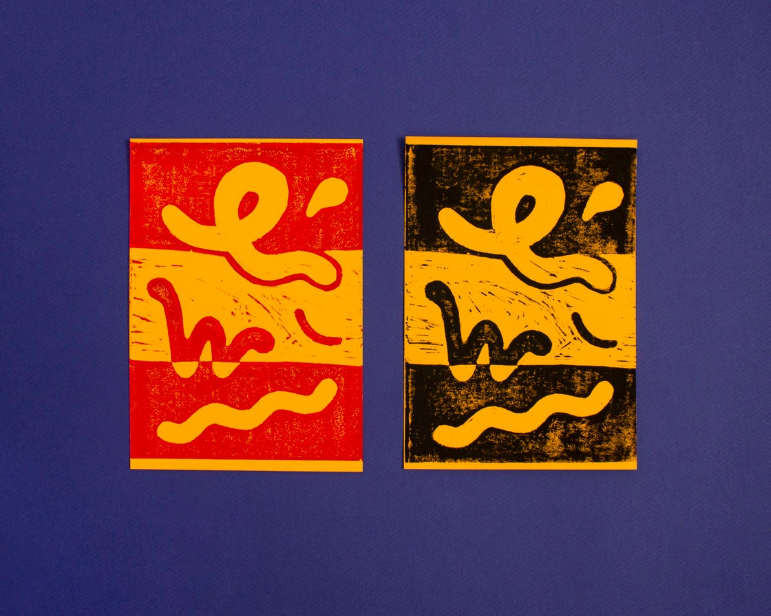Image of Lino Print Squiggles