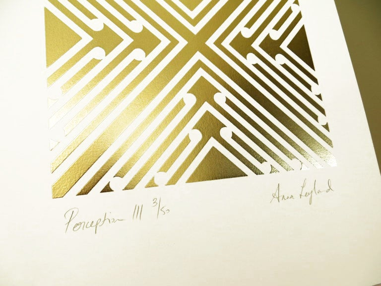 Image of Perception III / Formation III   Limited Edition Gold Foil Screenprint