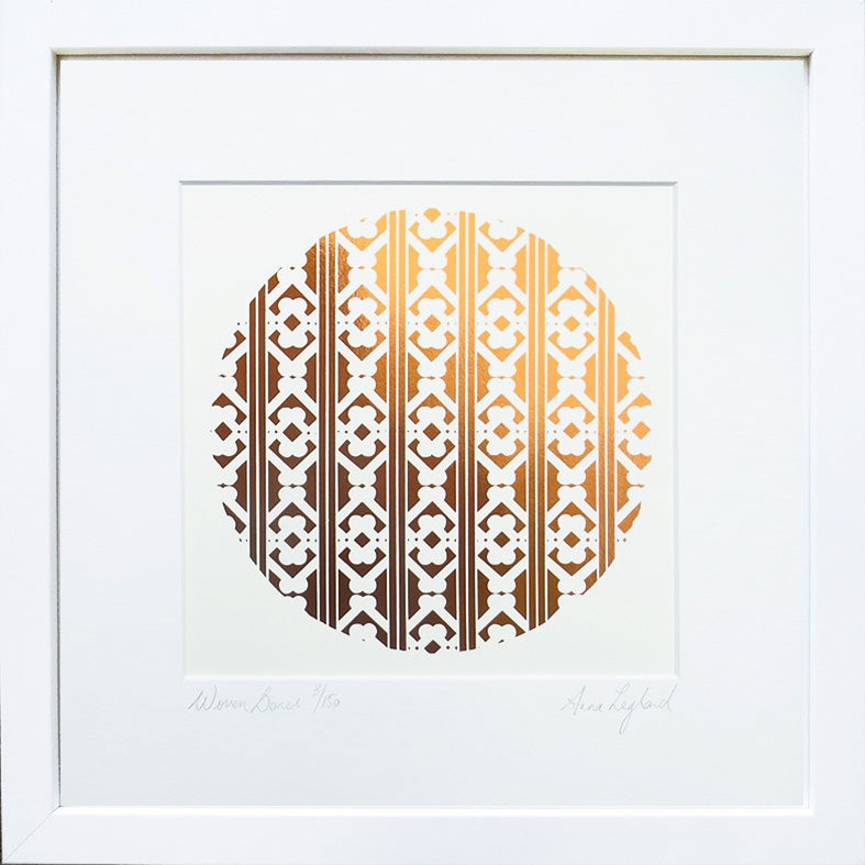 Image of 'Woven Bones'   Limited Edition copper foil screenprints available from $130