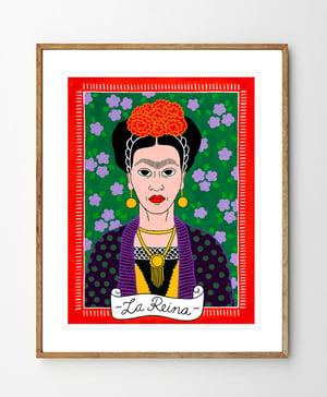 Image of La Reina Frida Kahlo Fine Art Print
