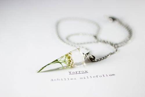 Image of Yarrow (Achillea millefolium) - Conical Pendant #1