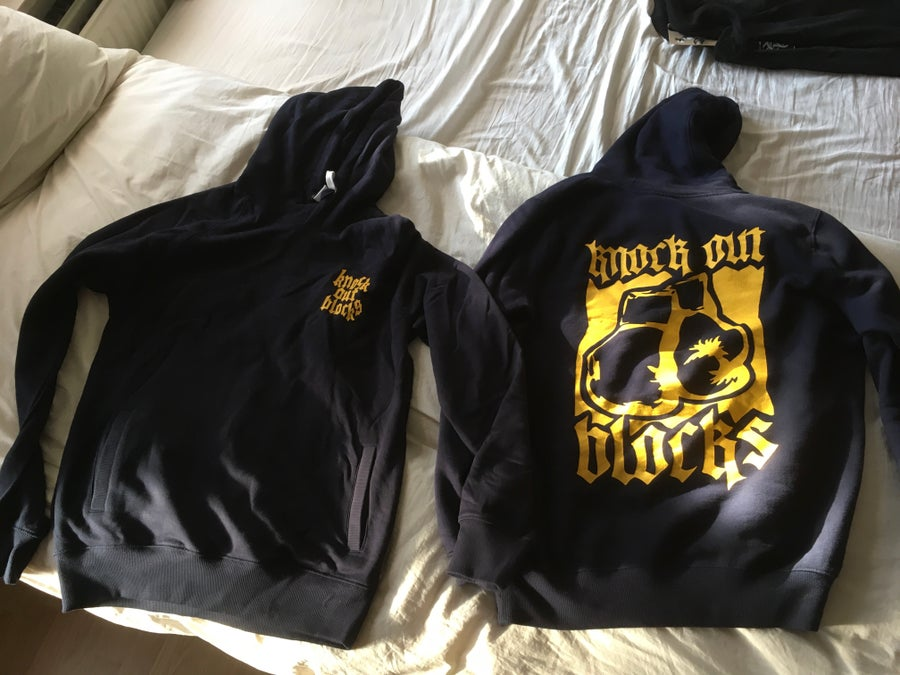 Image of KO Boxing Gloves Hoodie (Navy)