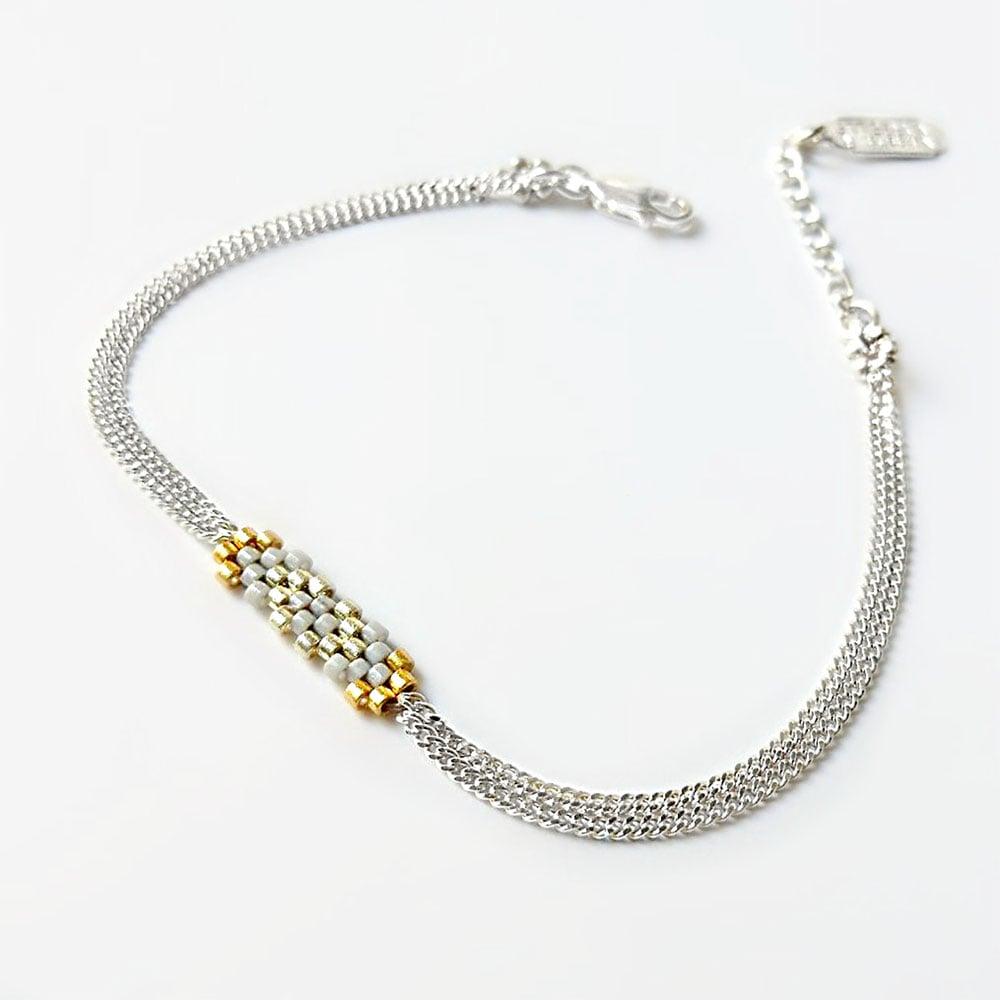 "Image of Bracelet Argent Gris ""Flocon"""