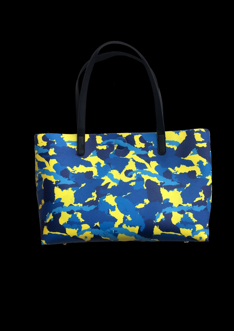 Image of BAG WI CAMO JAUNE BLEU