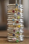 Choose your own stone and metal stacking rings