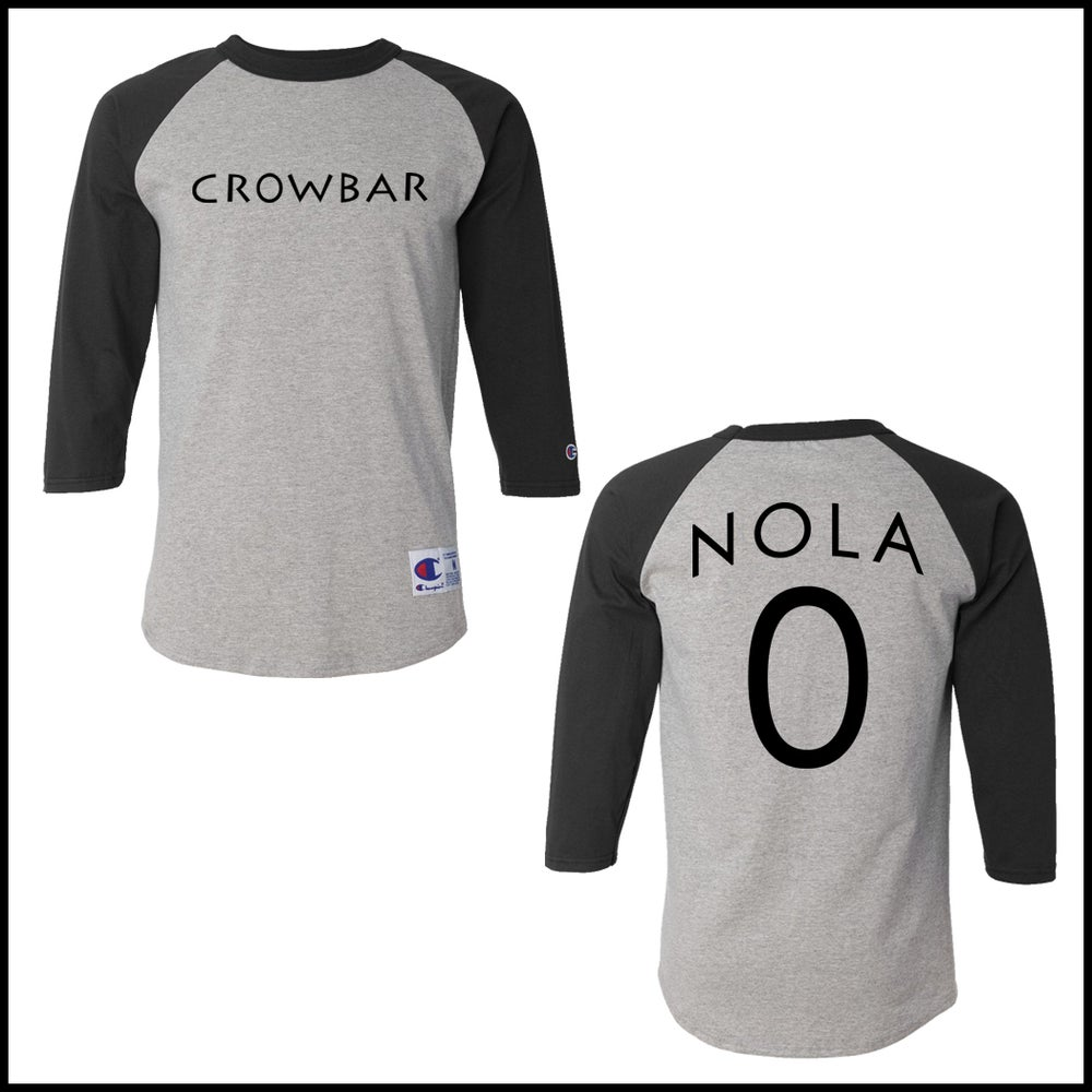Image of CROWBAR NOLA 3/4 LONGSLEEVE CHAMPION T-SHIRT