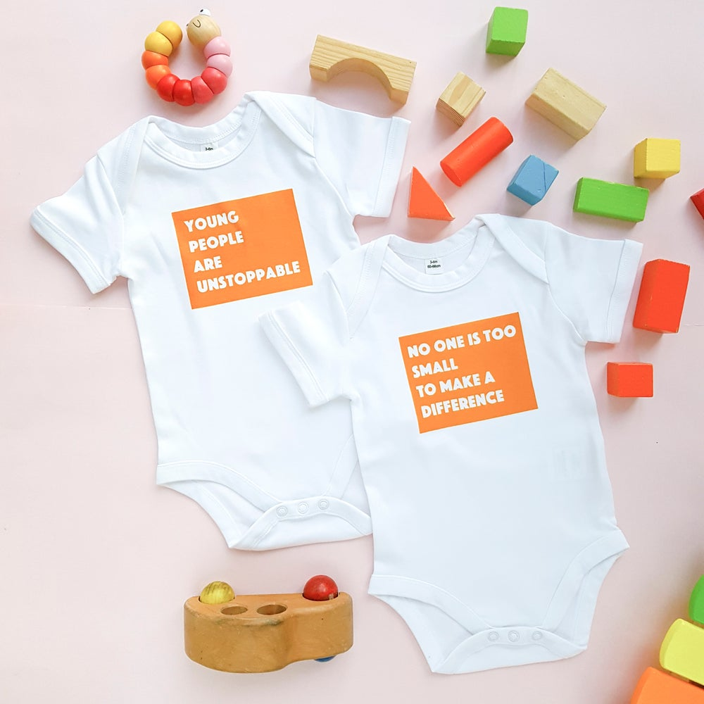 Image of Mini activist baby bodysuit gift set