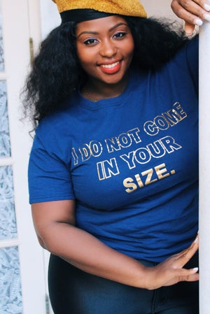 Image of I Do Not Come In Your Size Top (Navy)