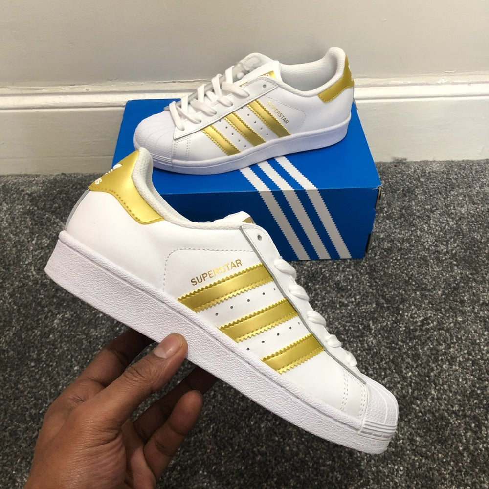 Image of Adidas Superstar White/Gold