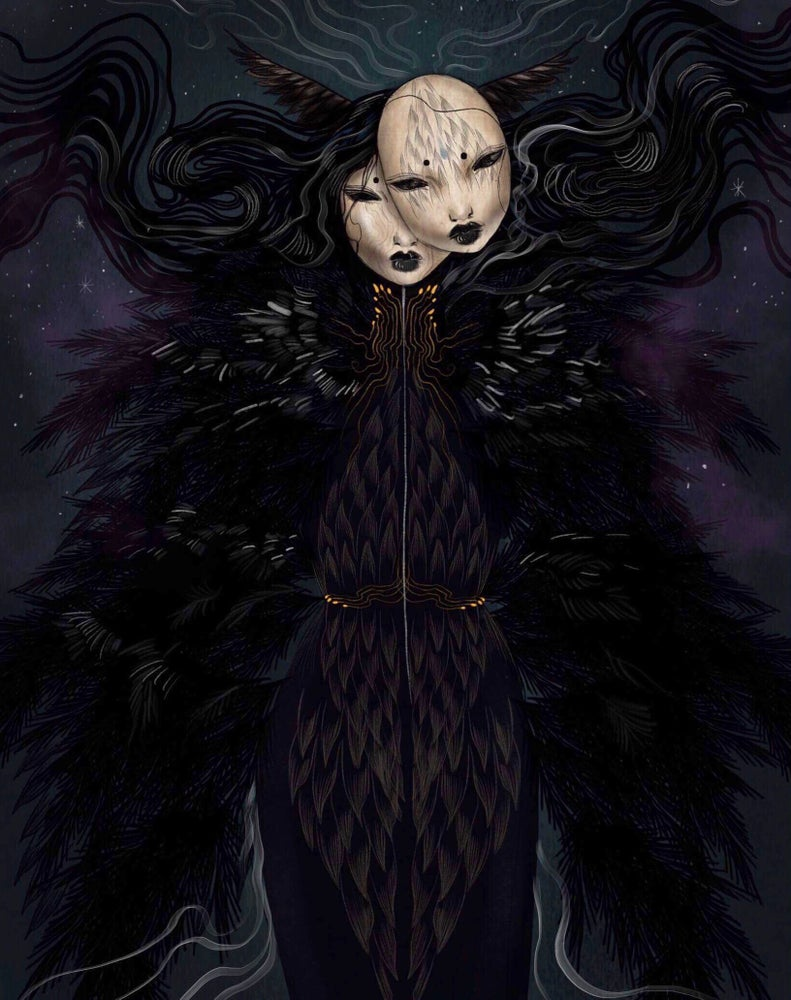 Image of The raven queen print