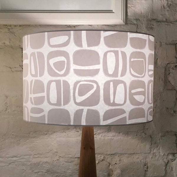 Image of Pebble Wide Tub Drum Lampshade