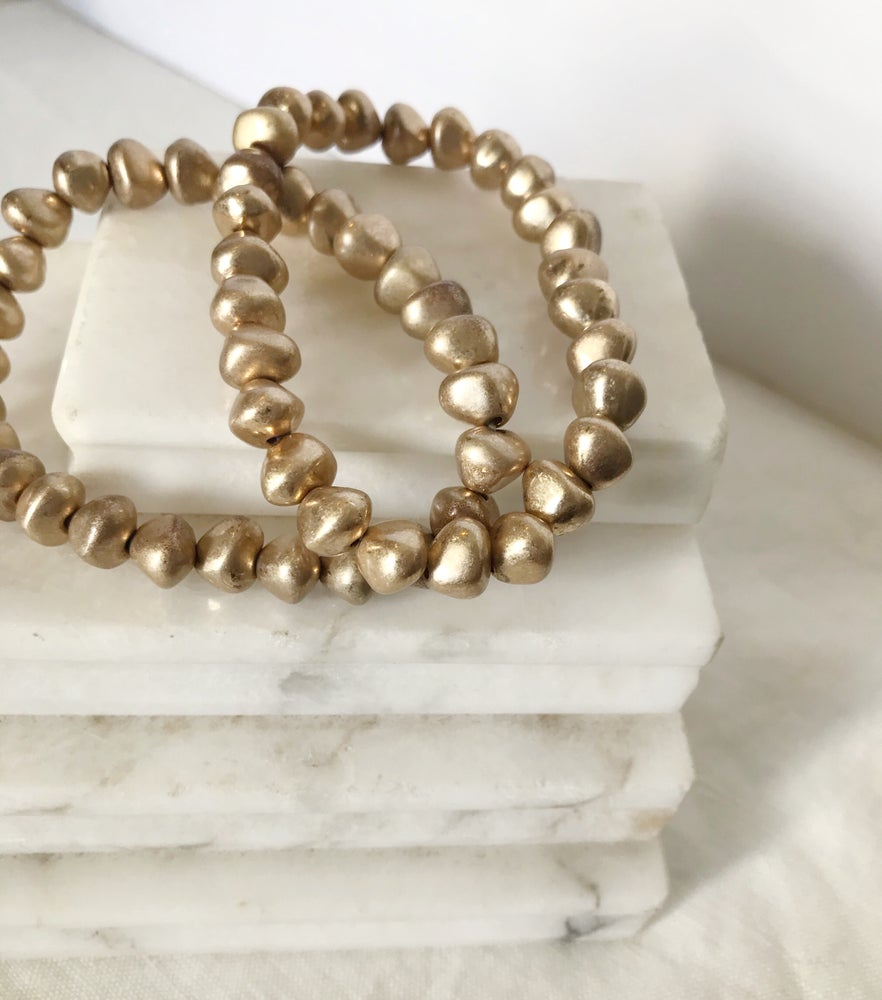 Image of Gold Beaded Bracelet Set