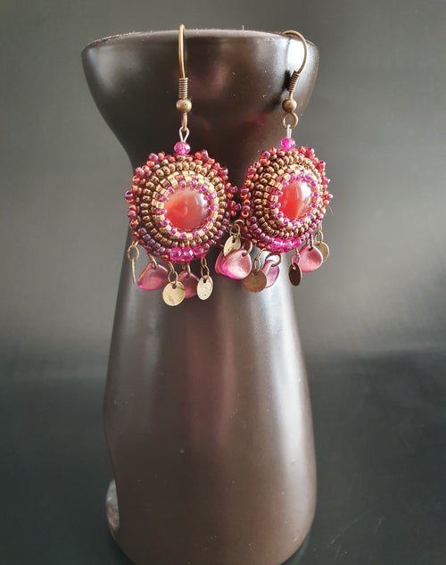 Image of Boucles d'oreilles SO CUTE  cornaline
