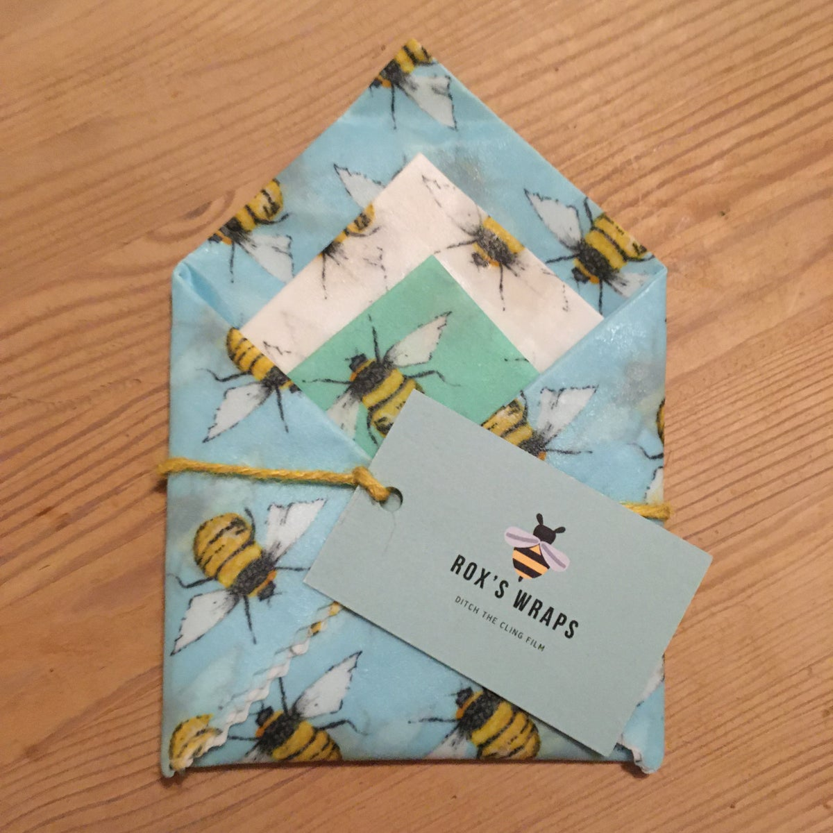 Image of Beeswax Wraps - Bees - Pack of 3