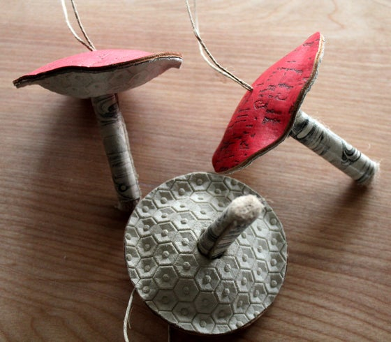 Image of Leather toadstool mushroom ornaments