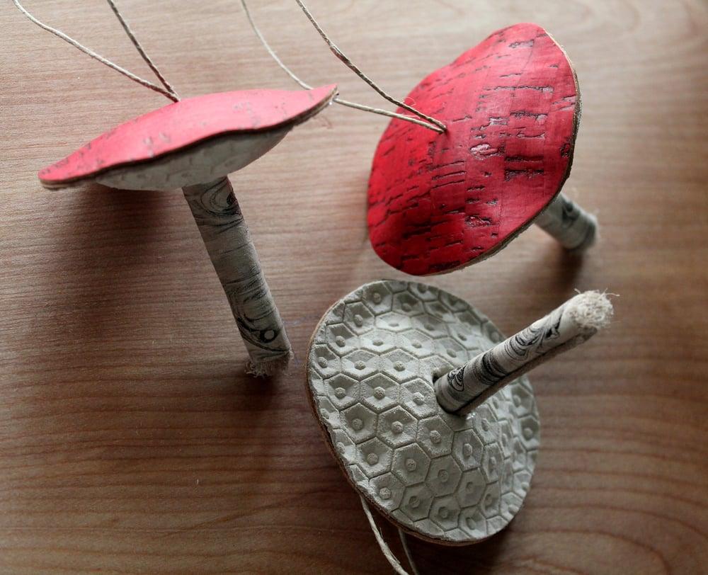 Image of Leather toadstool mushroom ornaments