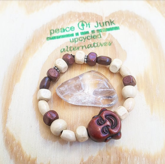 Image of Baby Wooden Buddha Bracelet
