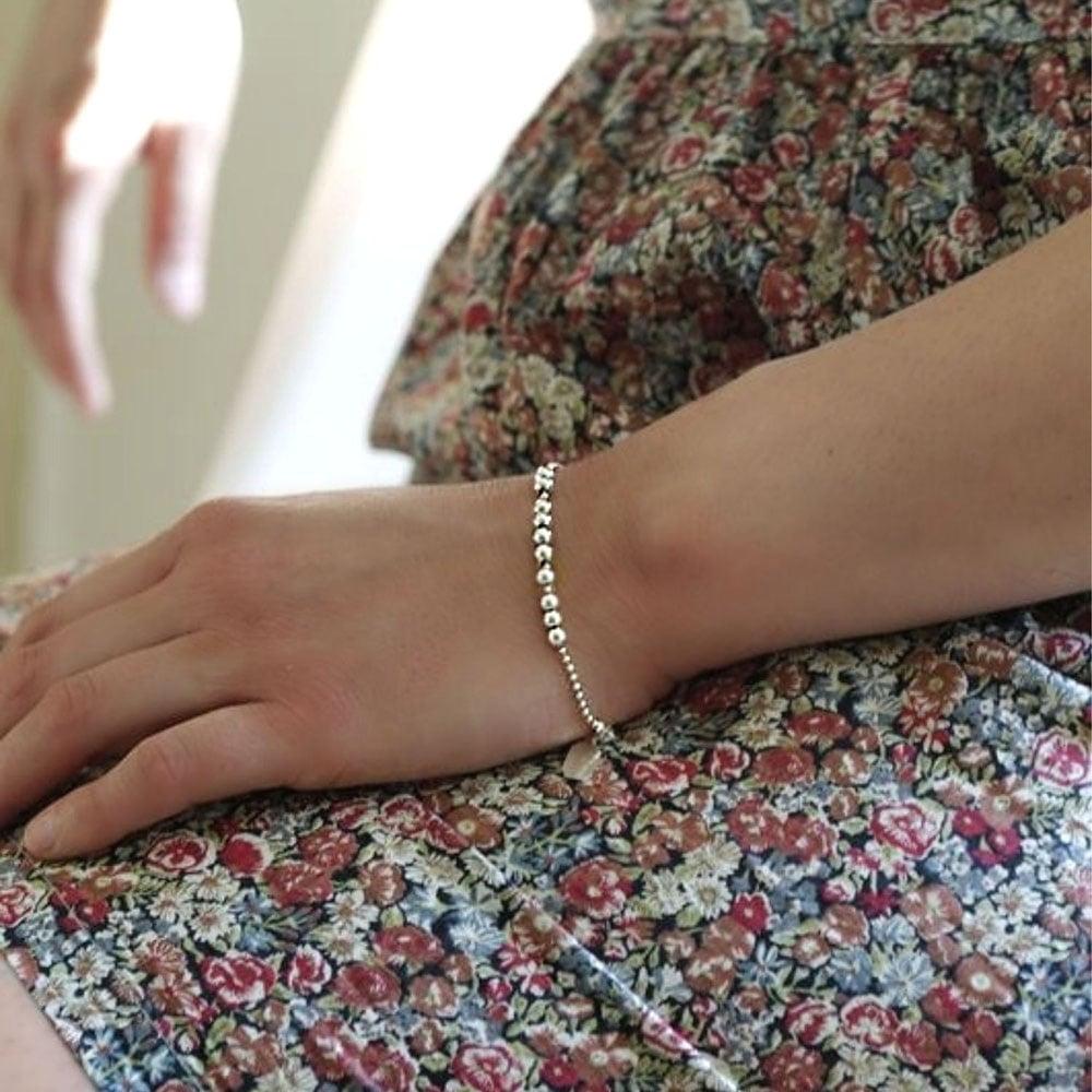 """Image of Bracelet Boules Argent """"J'adore"""""""