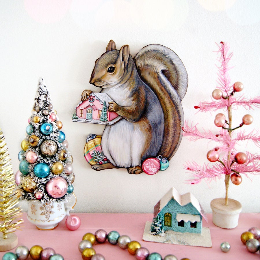 Image of Christmas Squirrel plaque