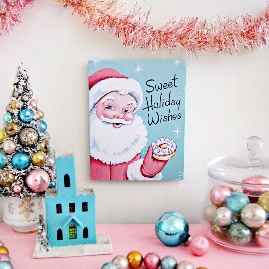 Image of Sweet Holiday Wishes Santa plaque