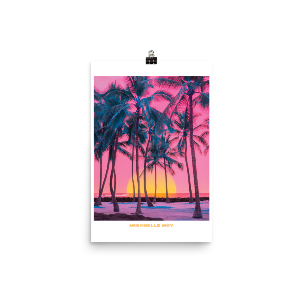 """POSTER: """"ONLY PALMS"""""""