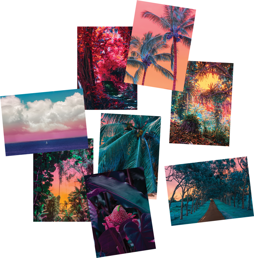 Hawaii Postcards Set
