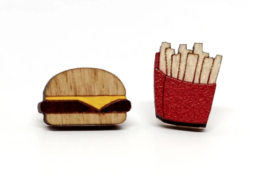 Image of Cheeseburger and Fries Earrings