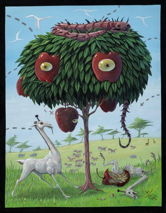 Image of Joe Vaux 'Temptation' original art