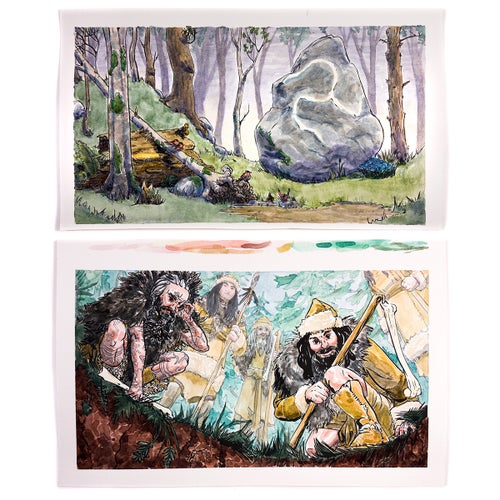 Image of Original Art - Gloranthan Watercolour Paintings from Six Ages