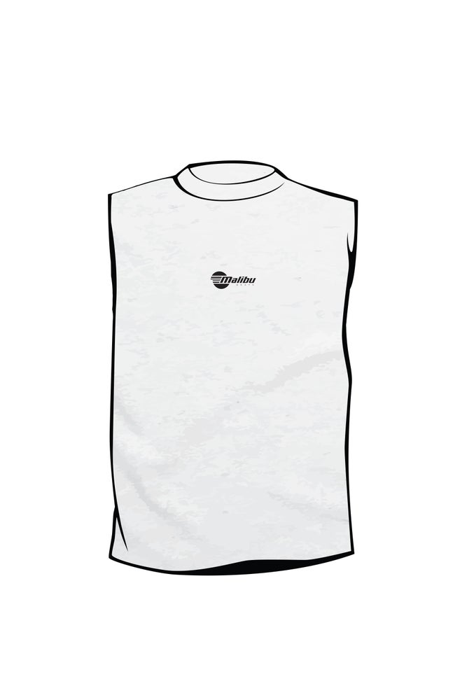 Image of Malibu Men's Muscle Tee - White Marle