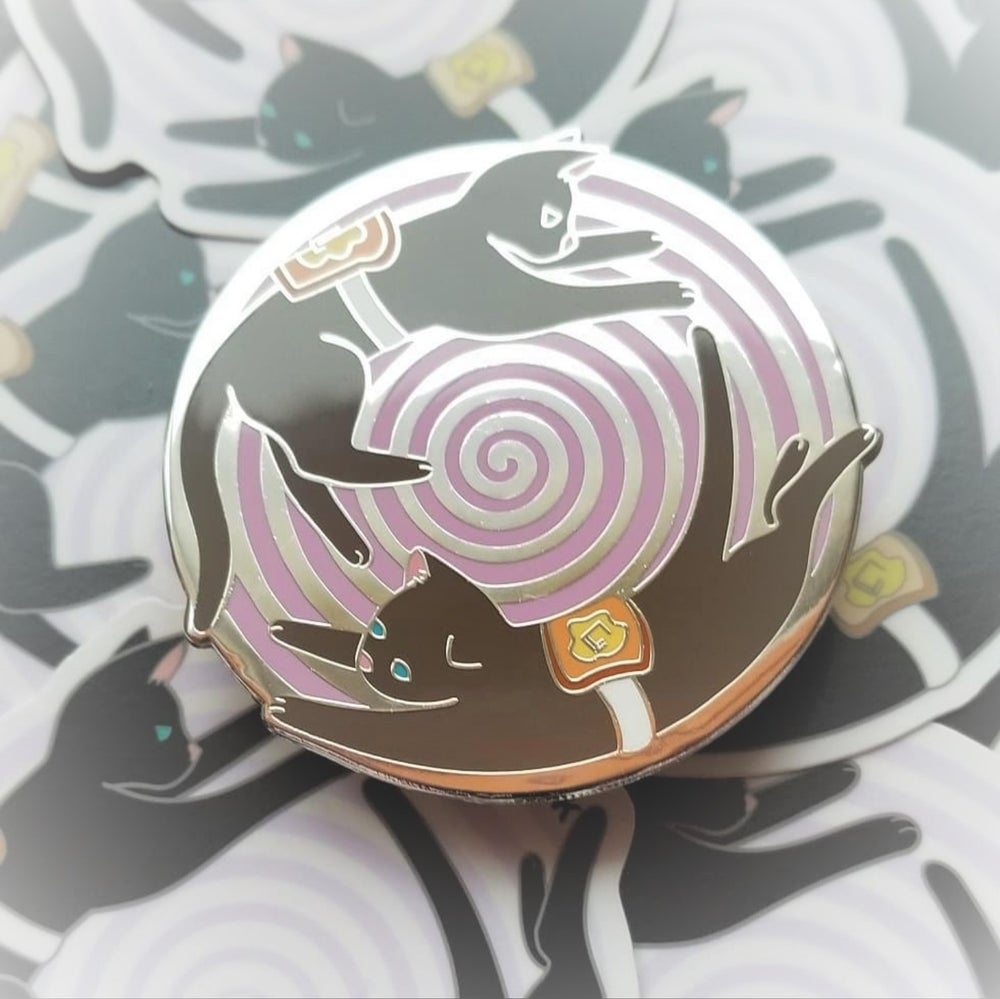 Image of Buttered Cat Paradox Pin