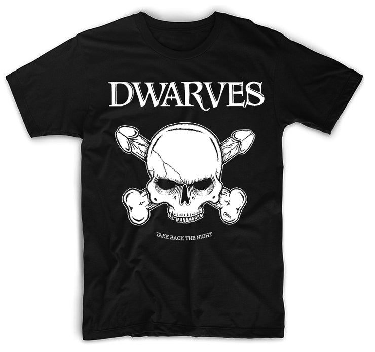 Image of The DWARVES 'TAKE BACK THE NIGHT' 2019 EU TOUR T-SHIRT
