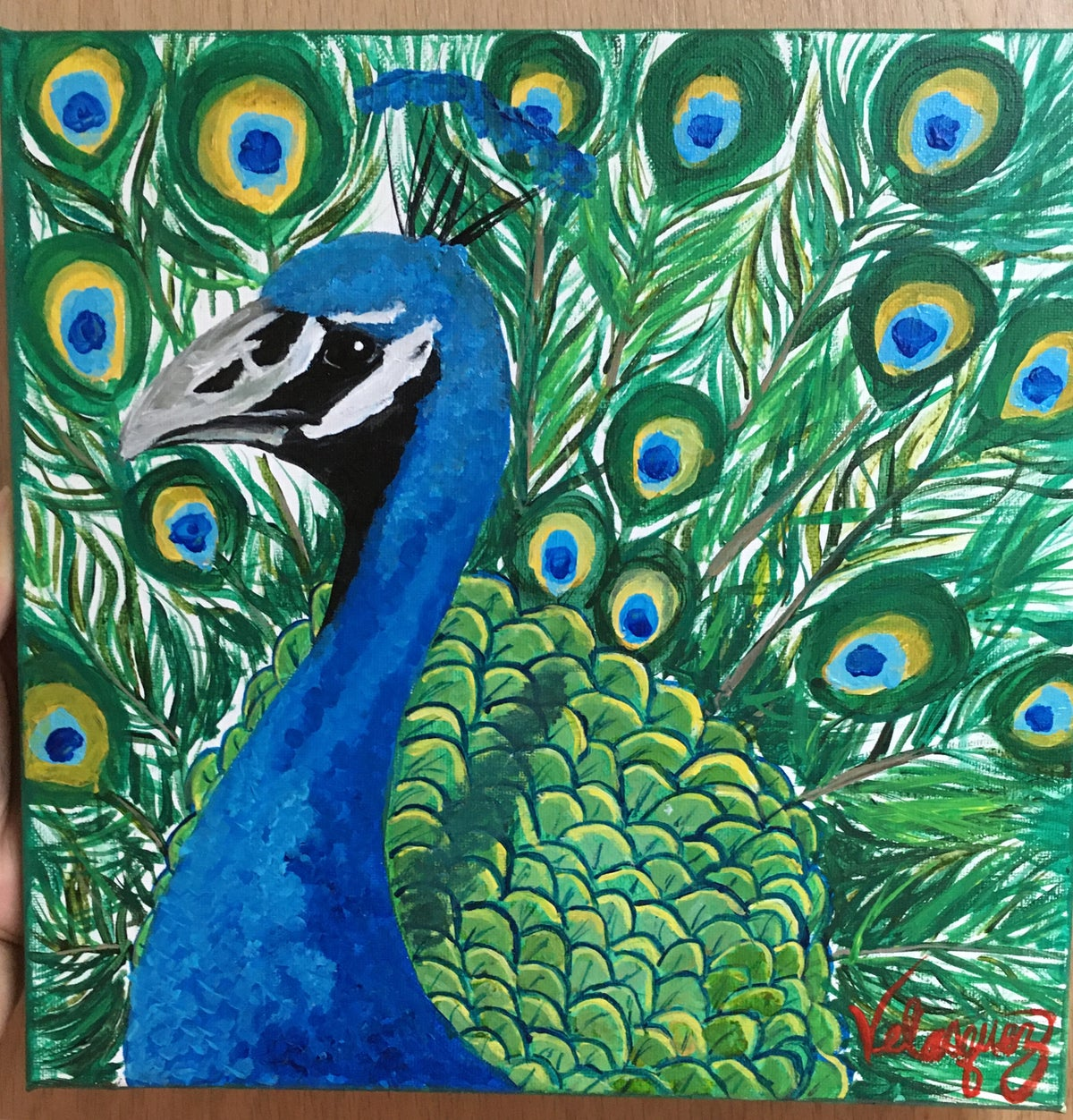 Image of Peacock Portrait